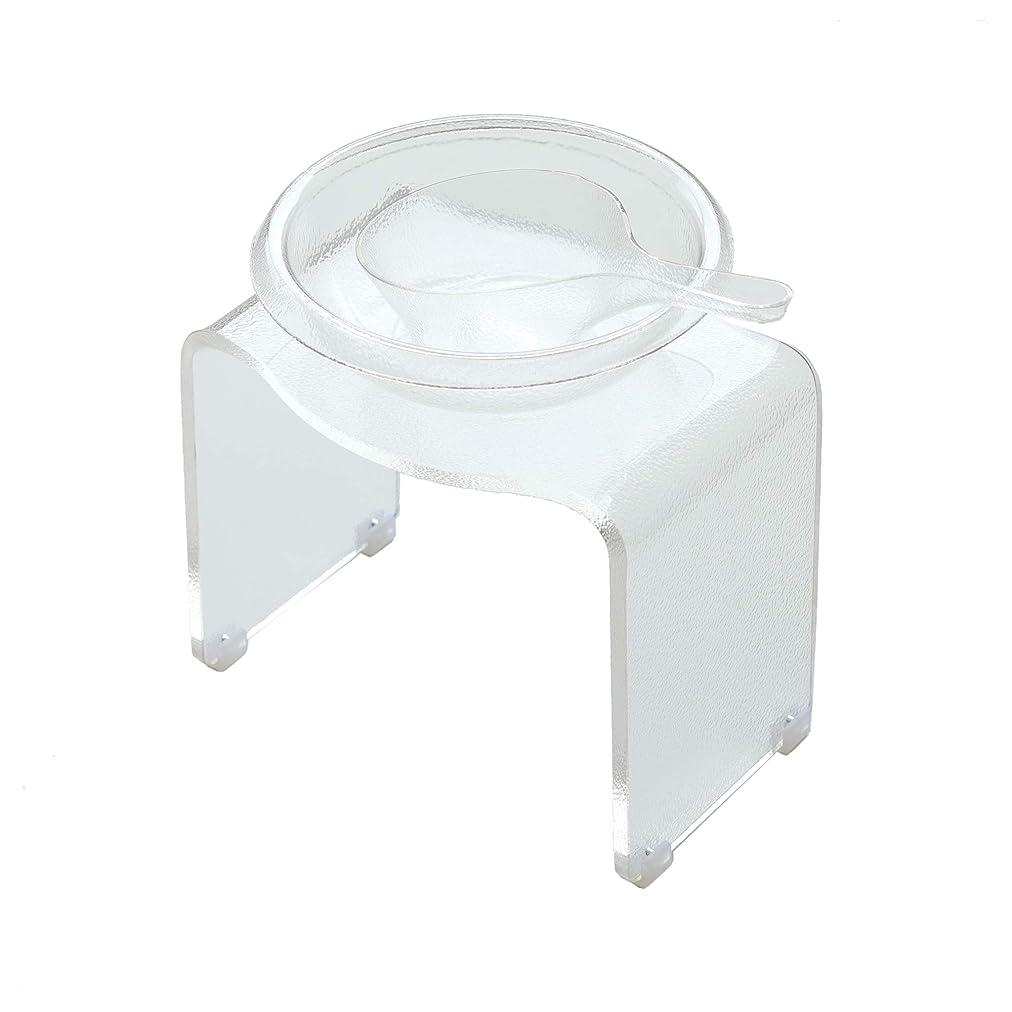 アルミニウムオセアニア過言アクリルバス3点セット「KASUMI(霞)」バスチェア&洗面器&手桶け(クリア)