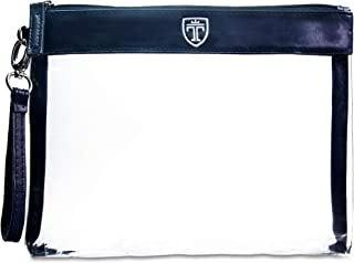 DECARETA 2 St/ück Kulturbeutel Transparent Kosmetiktasche Wasserdicht PVC Make-Up Tasche 2 Verschiedene Gr/ö/ßen Handgep/äck Kulturtasche Durchsichtig Waschbeutel mit Griffe f/ür Damen Herren Reise