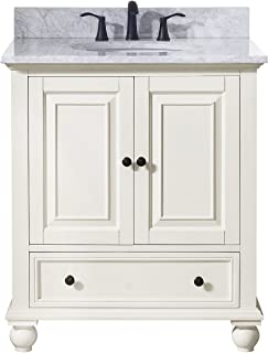 Avanity Thompson 31 in. Vanity Combo in French White finish with Carrera White Top