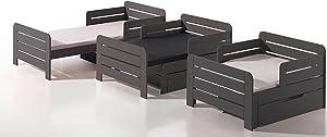 Alfred & Compagnie Lit évolutif 90x140-170-200 LEÏA Taupe