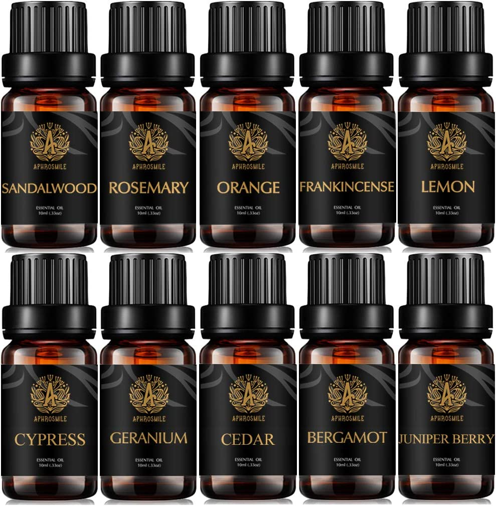 Genuine New Shipping Free Aromatherapy Lemon Essential Oil Set Orang for Diffuser Organic