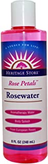 Heritage Store Rose Petals Rosewater Facial Toner & Moisturizer Helps Sensitive Skin, Hair & More Alcohol Free, 100% Pure Vegan 8 oz 3 Pk