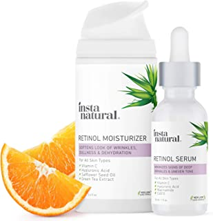 Retinol Serum & Moisturizer Bundle - Anti Aging Face & Neck Wrinkle Reducing Formula - Improve Dark Spots, Hyperpigmentati...
