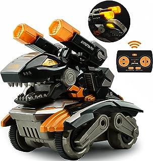 GizmoVine Remote Control Monster Trucks for Boys Dino RC Dinosaur Toys Cars for Kids Dinosaur Birthday Party Supplies Gift...