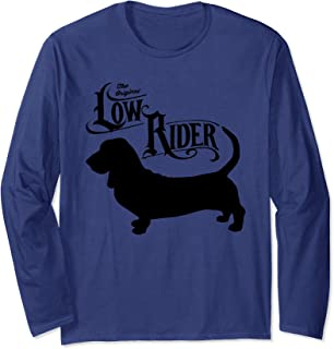 Basset Hound Low Rider Funny Long Sleeve T-Shirt