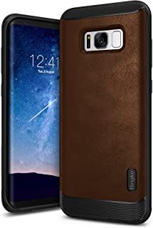 Ringke Flex S Compatible with Galaxy S8 Case Classy Slim Look Flexible TPU Premium Hard PC Leather Hybrid Protection Non Slip Tactile Grip Scratch Resistant for Samsung Galaxy S8 (2017) - Brown