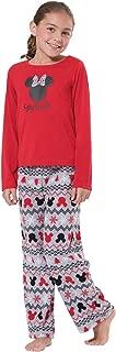 Girls Minnie Mouse Pajamas - Girls Christmas Pajamas, Red/Green