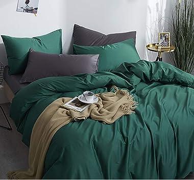 MHIBAX Literie Quatre Pièces en Coton À Longues Fibres De Coton Et Satin De Coton Lit de 1,2 m Drap de lit