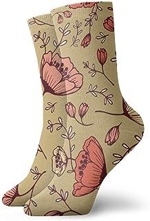 Flores de la taza de té Calcetines cortos transpirables Calcetines clásicos de algodón de 30 cm para hombres Mujeres Yoga Senderismo Ciclismo
