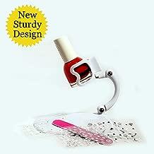 Nail Polish Holder Grip & Tip and Nail Art Surprise! The Original, Best Nail Polish Bottle Holder - Anti-Spill Nail Polish Holder - No Mess, Saves Time & Money - Perfect for DIY Nail Art (White)
