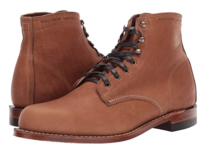 Men's Vintage Workwear – 1920s, 1930s, 1940s, 1950s Wolverine Heritage Original 1000 Mile 6 Boot Carolina Brown Mens Work Boots $327.25 AT vintagedancer.com