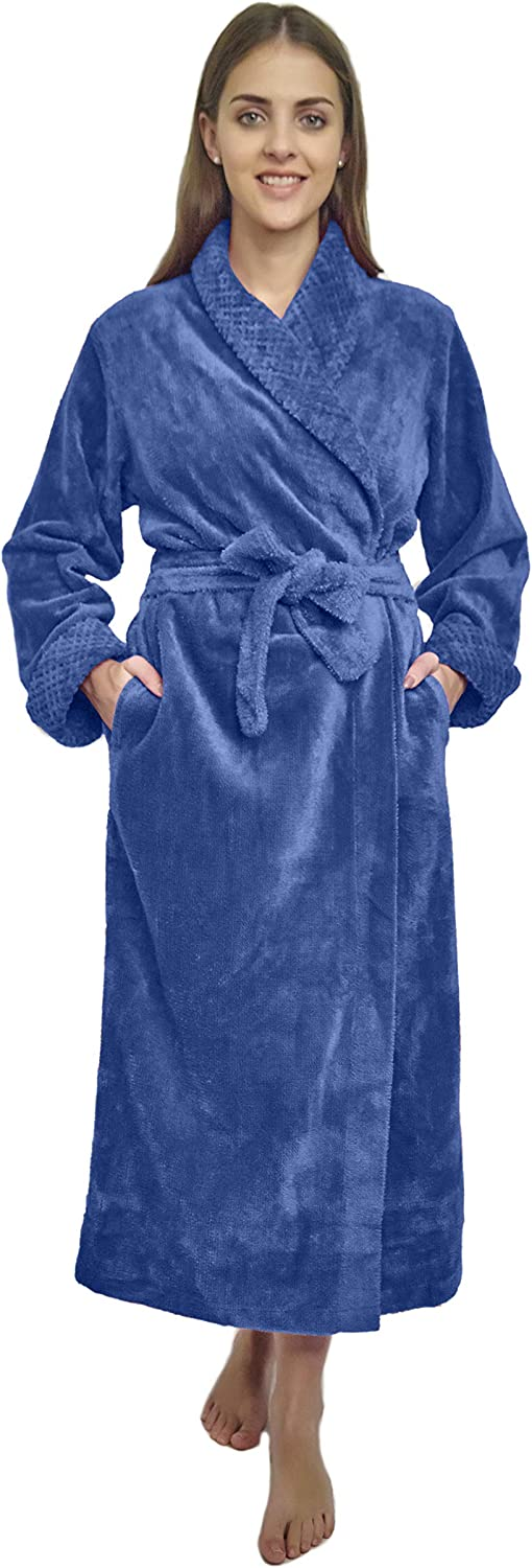 Max 50% OFF HOC Women's Two-Tone Shawl Chenille Robe Excellence Collar