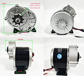 Electric Brush Geared Motor & Controller & Throttle Kit Electric Vehicle Motor 24V 350W MY1016Z for Electric Vehicle Bike Scooter Bicycle Car