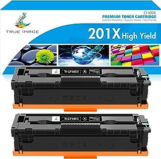 True Image Compatible Toner Cartridge Replacement for HP 201X CF400X 201A CF400A M252 Color Laserjet Pro MFP M277dw M277 M...