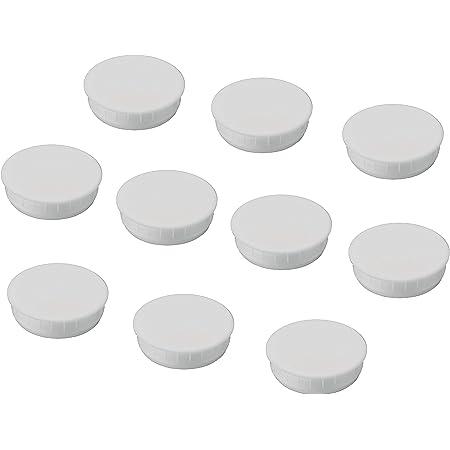 Rundstopfen 28 Wei/ß Kunststoff Endkappen Verschlusskappen 10 Stck