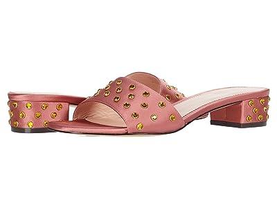 J.Crew Flora Slide w/ Studs (Dusty Begonia) High Heels