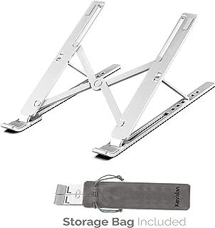 Portable Laptop Stand, Ultra-Thin Light Weight Desktop Notebook Holder Riser, Aluminum Adjustable Eye-Level Ergonomic Height Compatible for MacBook Notebook Computer PC iPad Tablet
