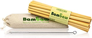 Reusable Bamboo Drinking Straws   BPA free   Ecological Alternative to Plastic straws   Strong & Durable Bamboo multi-usag...