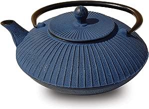 Old Dutch Cast Iron Fidelity Teapot, 27-Ounce, Blue
