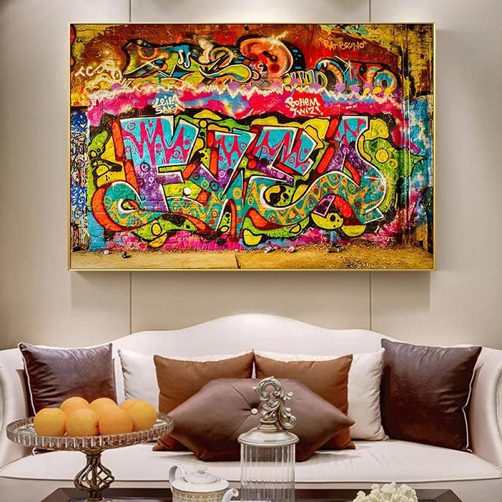 WYAM Graffiti Art Canvas Painting Very popular! Picture Decor Wall Albuquerque Mall Abstrac