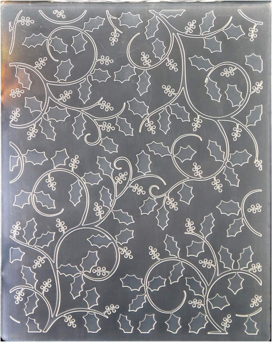 Kwan Crafts Christmas Berry Outlet SALE discount Branch Embossing Plastic Folders for
