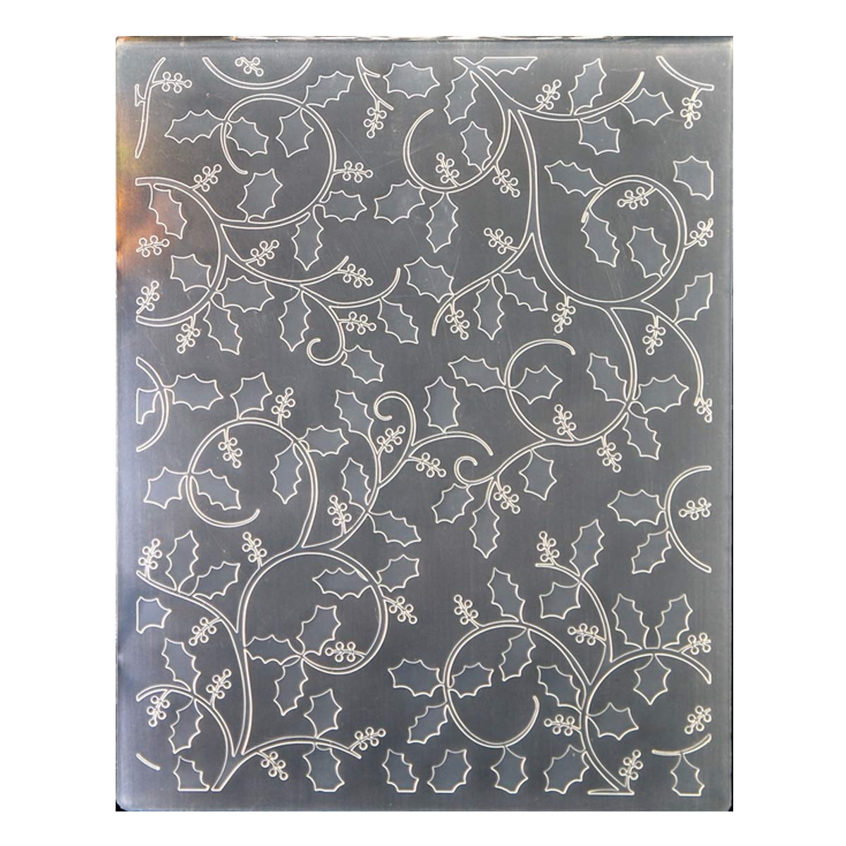 Kwan Crafts Christmas Berry Branch Plastic Embossing Folders for Card Making Scrapbooking and Other Paper Crafts, 12.1x15.2cm