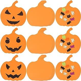 Aneco 10 Inch Foam Halloween Pumpkins DIY Crafts Supplies Pumpkin Shaped Foam for Halloween DIY Craft Decoration, 25 Pack (Not Self-Adhesive)