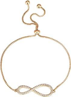 14K Gold Plated Star Celestial Bracelet Infinity Endless Love Symbol Charm Adjustable Bracelet Gift for Women Girls