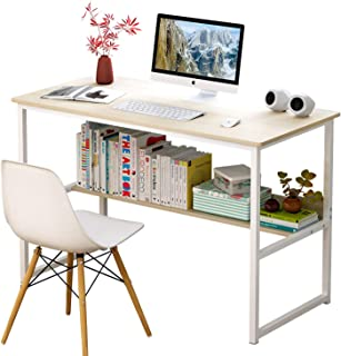 120 * 45 Study Tables Writing Computer Desk Table Sturdy Home Office Desk with Shelves