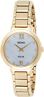 Seiko Women's Solar Quarts Watch Yellow Gold SUP384P1