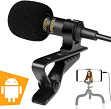 External Lavalier Android Phone Microphone for Samsung, LG, Motorola, Tablets - Exclusive ASMR Microphone for Android