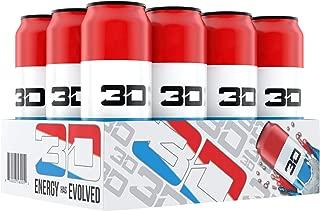 3D Energy Drink | Caffeine, Zero Sugar, Taurine, Panax Ginseng, Inositol, Guarana Seed, L-Carnitine Tartrate, 16 Fluid Ounce | 12 Pack (Liberty Pop)