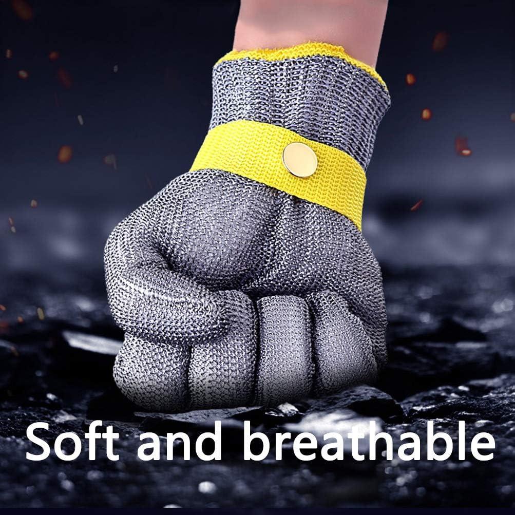 Size : Small Schnittfeste Handschuhe-XHZ Einzelne Stahldrahthandschuhe schnittfest geschnittene Edelstahlhandschuhe aus Fleisch und Fisch schnittsichere Metall-Eisenhandschuhe