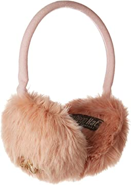 CTH8152 Fuax Fur Adjustable Ear Muffs with Gold Bee