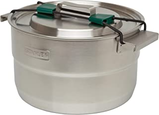 Stanley 11 Piece Packable Unit Stainless Steel Pot with Vented Lid-Cook Set for Backpacking, Hiking and Camping, 3.5l