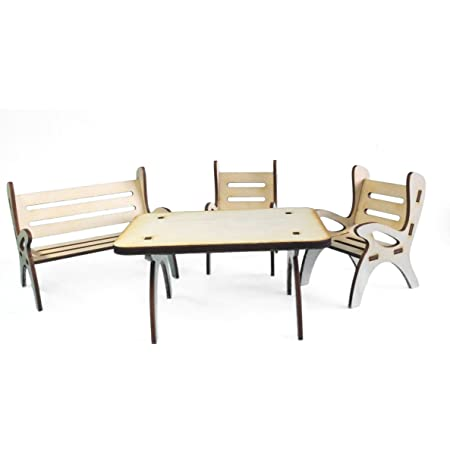 Petra's Craft News A GMH08FS1 Consists of 1 Table Dining Set, 1 x Garden Bench and 2 Chairs – Set of 4