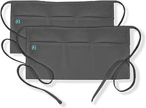 Adar Universal 3 Pocket Durable Waist Apron (2 Pack)