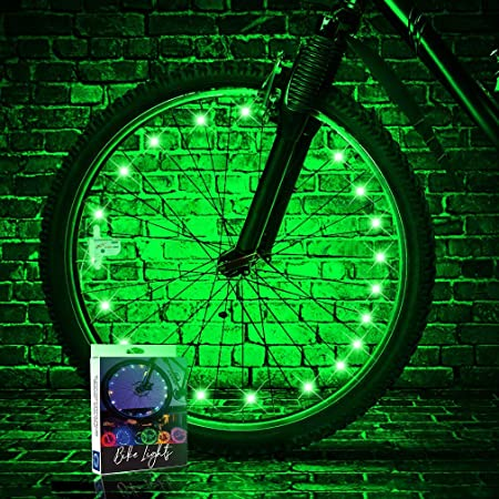 TINANA 2 Tire Pack LED Bike Wheel Lights Ultra Bright Waterproof Bicycle Spoke Lights Cycling Decoration Safety Warning Tire Strip Light for Kids Adults Night Riding