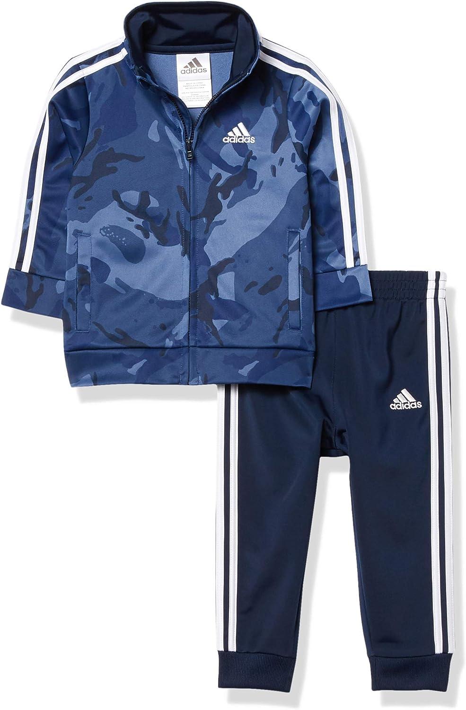adidas baby-boys Li'l Sport Tricot Jacket & Jogger Clothing Set