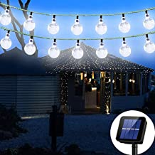 Solar String Light 8 MODEL 20 ft 30LED Globe Outdoor String Light Lighting for Indoor Christmas Home Patio Lawn Garden Wed...