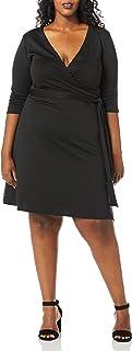 فستان Star Vixen نسائي بمقاس إضافي من الكوع SLV Fauxwrap
