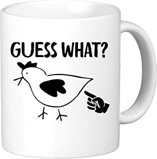 Guess What? Chicken Butt. Funny Novelty Coffee Mug Gift.