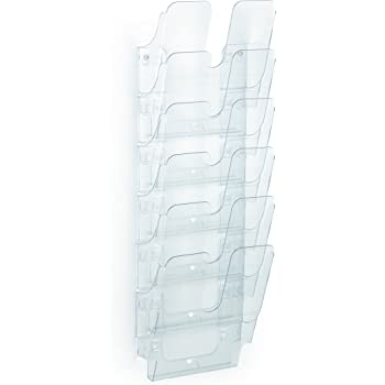 con supporto a filo Espositori da vetrina con 3 tasche verticali in formato A4 4 pezzi
