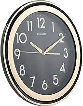 ساعة حائط من سيكو QXA578FLS ، لون اسود و ذهبي