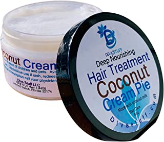 Coconut Cream Pie Deep Nourishing Hair Treatment,Made With Coconut Milk,4.5oz,By Kym's Diva Stuff
