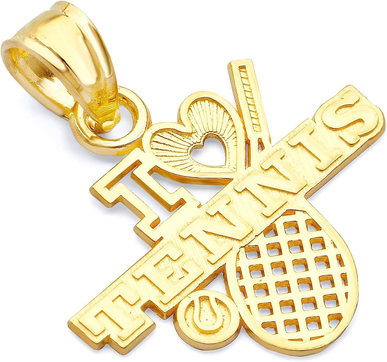 14k Yellow Gold New product!! I Love Pendant Washington Mall Tennis