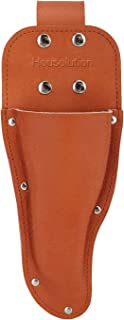 Housolution Garden Pruner Sheath, Premium Genuine Leather Holster Protective Case Cover Scabbard for Gardening Pruning Shears Scissor, Brown