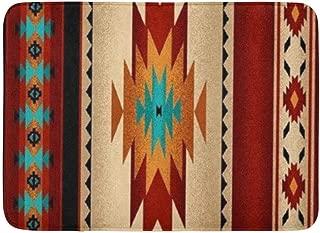 Coolest Secret Bath Mat Native Tribal Indian Geometric Brown Western South Southwestern Old Bathroom Decor Rug 20