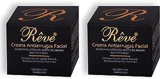 REVE Crema Antiarrugas Facial Argan con Ácido Hialurónico + Molecular Film + Vitamina E + Manteca de Karite + Aloe Vera Si...