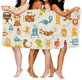 Cartoon Monsters Sport Towel - Travel Towels - 100% Microfiber - Gym - Beach - Surf - Camping - Backpacking- Ultra-Light - Fast Drying